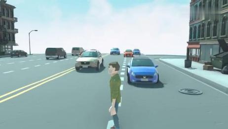 过马路模拟器:马路上发生连环车祸?为什么过马路这么难!