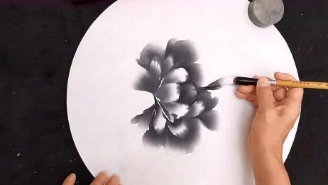 国画:黑色的牡丹你见过吗?老师教你画!