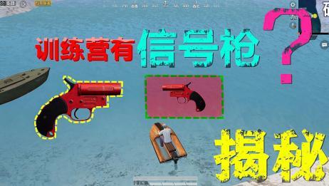 和平精英揭秘真相35:训练营的水底藏着信号枪?能召唤出空投吗?