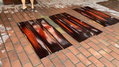 仙游红木板料一条街