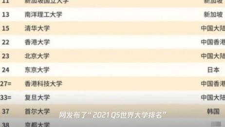 2021QS世界大学排名发布:中国大学排名再创历史新高