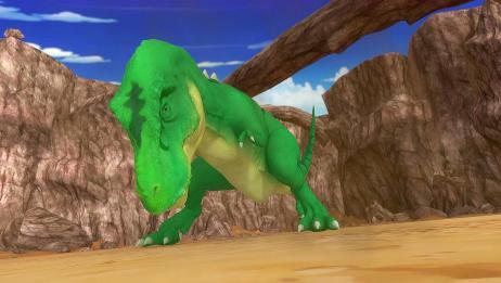 驯龙斗士:霸王龙被碎石击中,别担心,霸王龙没那么脆弱