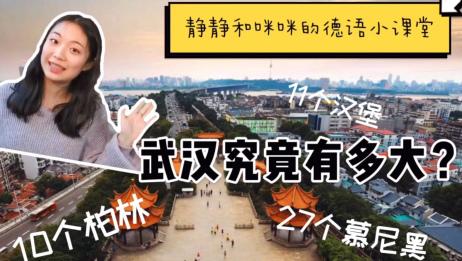 【中德字幕】武汉究竟有多大?居然相当于27个慕尼黑!拿给你身边的德国朋友看看吧