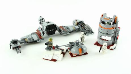 拼装乐高积木星球大战系列75202,Crait星球保卫战