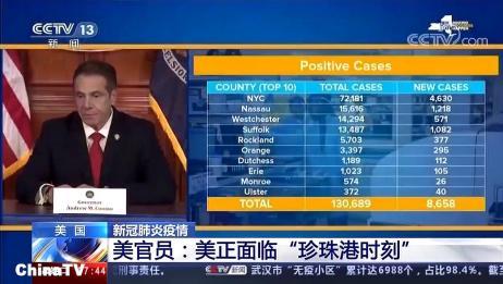 世卫:中国以外累计确诊病例超过113万例,美国确诊超36万例