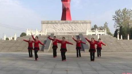 团风梅花香广场舞队 共圆中国梦 表演 团队版