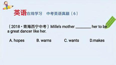 英语在线,初中英语语法初中英语中考真题讲解(6)