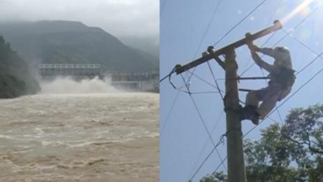 因山洪断电24天,这个山村终于来电