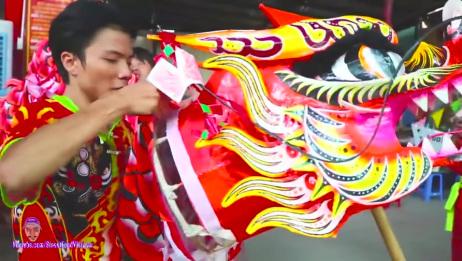 越南人舞狮 狮子舞022019