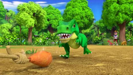 驯龙斗士:一只鸡腿霸王龙就跟着走,霸王龙你的骨气去哪了