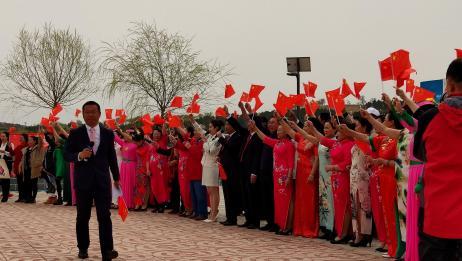 土城子杏花节平顶山村奏唱我和我的祖国快闪