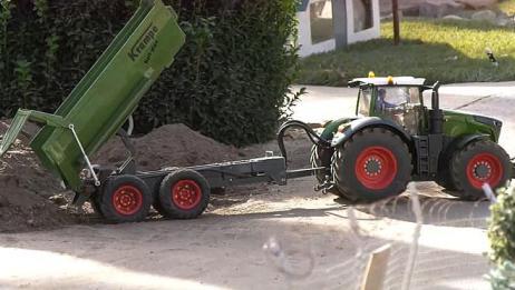 RC遥控车:装载机、挖掘机、拖拉机、卡车、自卸车大行动!