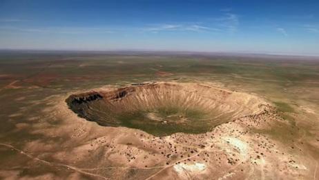 史上威力最大陨石,6500年万前撞击地球,巨大陨石坑震撼人心