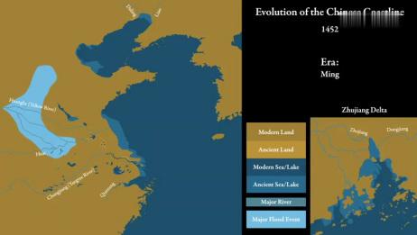 「历史地图」中国海岸线的演变:公元前19000年至2020年