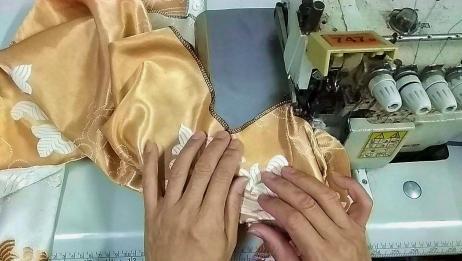 给衣服拷边怎样避免在拐角弧形处被刀片切到?老师傅详细指导