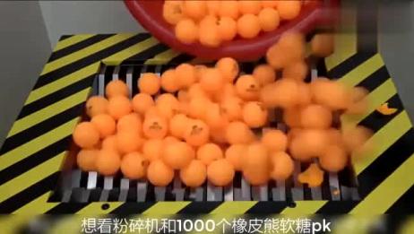 当2000个小熊软糖遇到粉碎机会怎样?小熊软糖会被粉碎么?来看看