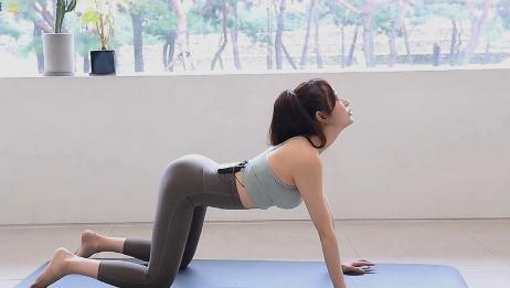 锻炼盆底肌体式,规律收缩和打开腰部肌肉,逐渐提升肌肉力量