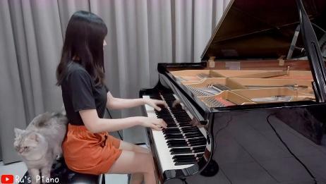 推荐一首钢琴曲,美女弹得真好听!没骗你!