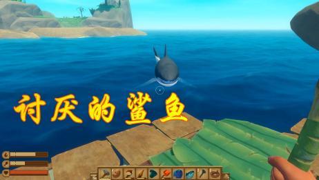 木筏求生07:为探索小岛,竟遭到大白鲨的突然袭击,该怎么办?