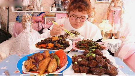 南京小胖妞的吃播:吃这么丰盛,网友:最喜欢看肉姐的吃播了!