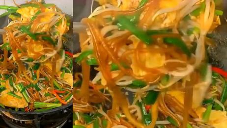 简单易学非常好吃的韭菜炒粉条来了