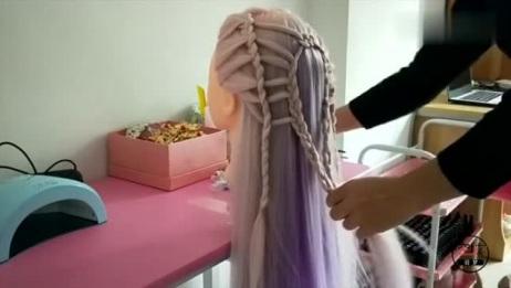 一款时尚中国结造型,无论什么脸型,扎上都美