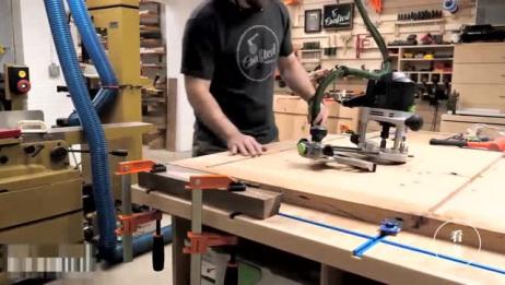 现代橡木餐桌制作,简约而不简单,太高上了