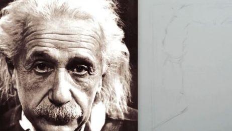 绘画人像是怎么样的体验,大佬教你画爱因斯坦