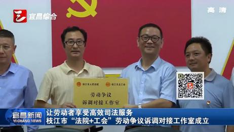 """枝江市""""法院+工会""""劳动争议诉调对接工作室成立"""
