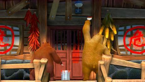 熊出没:光头强的家成危房,熊大熊二搞装修,帮助光头强改善