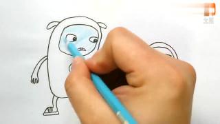 杰力豆动画中的乔乔和肉肉寻找糖果机