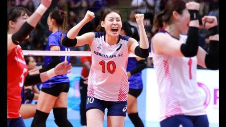 友谊第一比赛第二,韩泰女排全明星赛第二场韩国3:0泰国全场HL