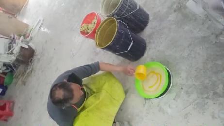 大型人造大理石玉石组合背景墙生产技术制作技术现场培训照片 063