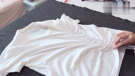 动手给短袖T恤改造!记住这几个改法,立马变的时尚又潮流