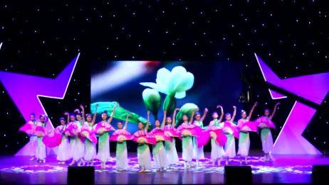 看芭蕾舞和民族舞的完美融合扇子群舞《盛世茉莉》