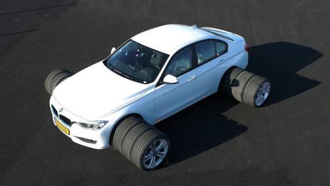 轮胎增宽后抓地力会变大吗?老外亲自测试,结果出乎意料!