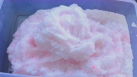 纯手抓粉色米粒泥,声音很诱人,声控表示很满足