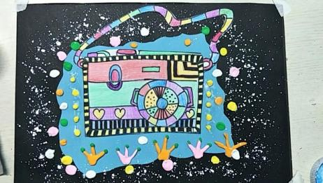 儿童创意剪贴画《照出美丽》