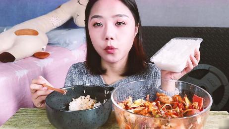 武汉吃货小姐姐,开播吃麻辣香锅,简直就是下饭神器
