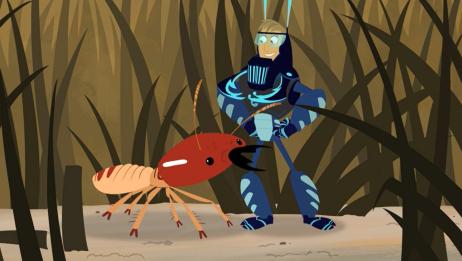 动物兄弟:兄弟俩变成草,马丁率先被吃,他获得了白蚁的能力