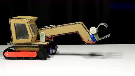 DIY一辆漂亮的工程车,看着真精致,玩具都不用买了