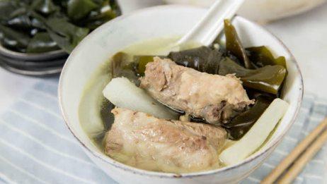海带排骨汤,肉很入味,汤特鲜美!