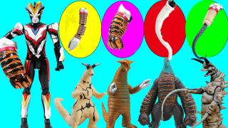 维克特利奥特曼全武装怪兽变形玩具大作战奇趣蛋