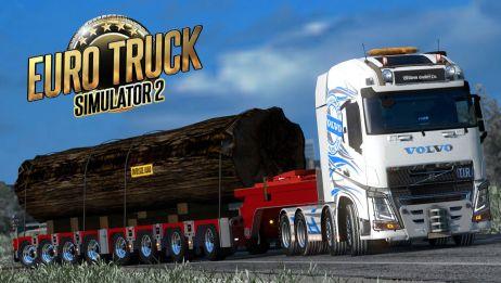「欧洲卡车模拟2」这么大块圆木 车套家具不好吗 Euro Truck Simulator