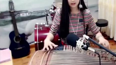 美女古筝演奏新白娘子传奇插曲《心湖雨又风》,百听不厌!