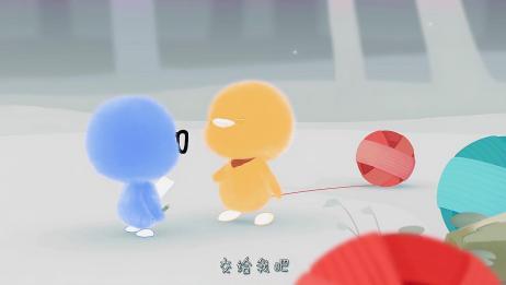 小鸡彩虹:糟糕!伙伴遇到危险追也追不上,多亏小蓝救了它们