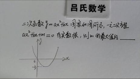 九年级数学题,你会由二次函数图像运用一元二次方程有实数根吗?