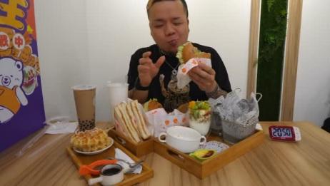 日本大胃王在台湾挑战人气豪华套餐,30分钟内吃完免费