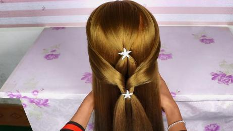 一款仅用3分钟就能学会的发型,2步就能完成,适合简单随意的你
