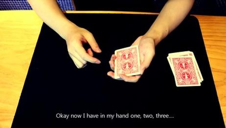 三张纸牌的近景魔术,找到你自己的风格